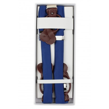 Royal Blue Mens Suspenders in Box