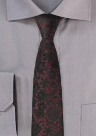 Fig Red Floral Silk Tie