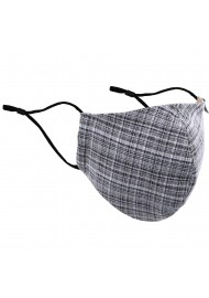 Vintage Tweed Check Mask in Grays