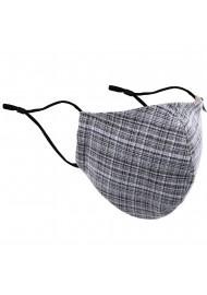 Vintage Tweed Check Mask in Grays