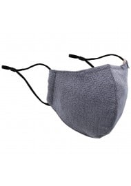 Textured Weave Fall Mask in Silver and Charcoal
