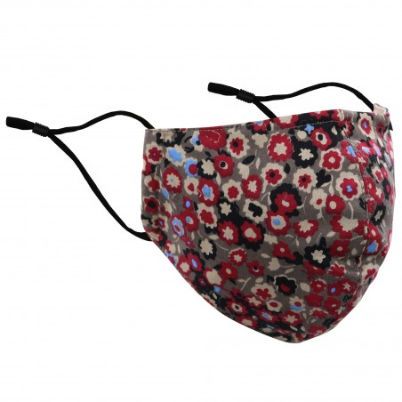 Fall Floral Print Mask