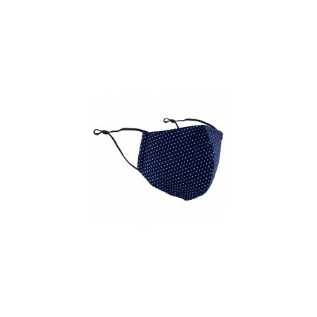 Pin Dot Filter Face Mask in Navy Blue
