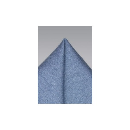 Solid Denim Blue Pocket Square