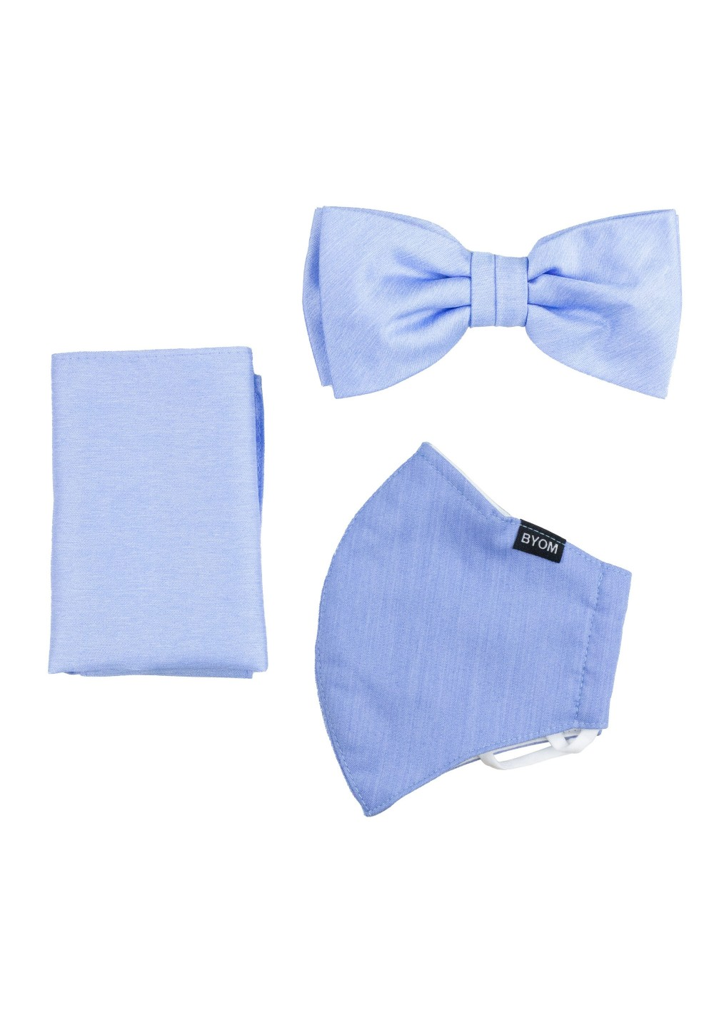 Sky Blue Mask and Bow Tie Set