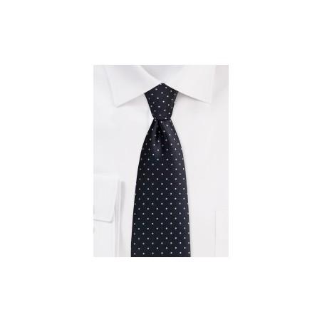 Black Pin Dot Necktie