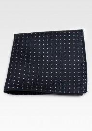 Black Pin Dot Pocket Square