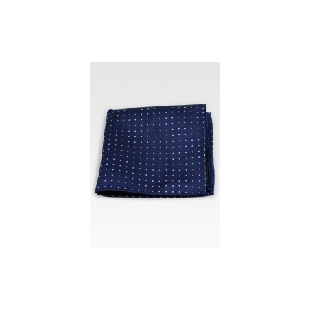 Pin Dot Pocket Square in Navy Blue Midnight