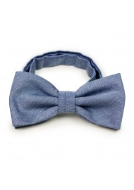 Solid Denim Blue Bowtie