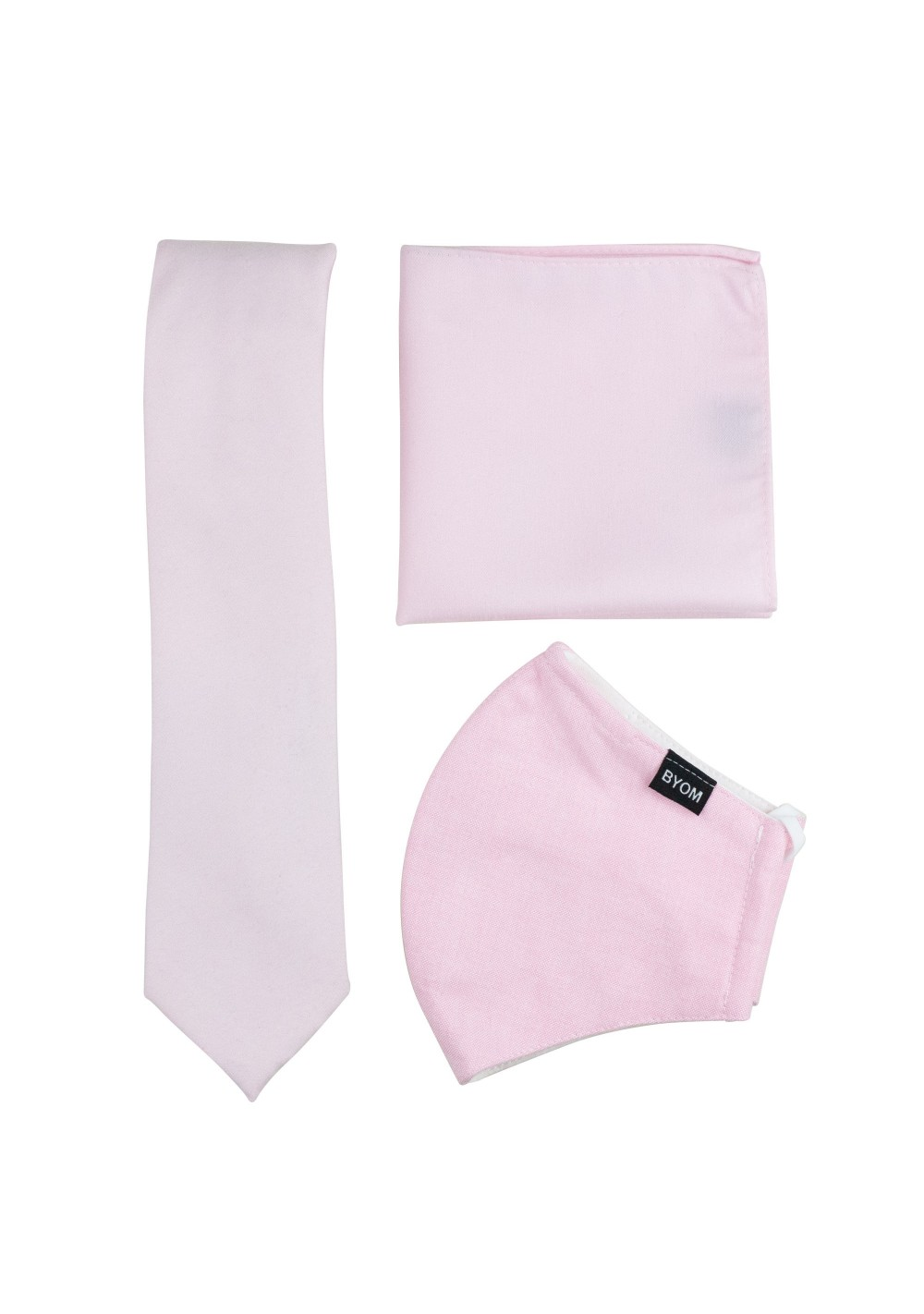 Soft Pink Mask and Tie Set