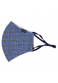 Blue Autumn Tartan Plaid Filter Mask Flat