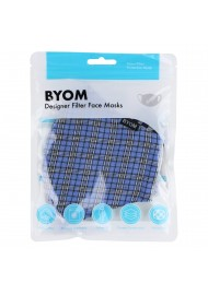 Blue Autumn Tartan Plaid Filter Mask in Mask Bag