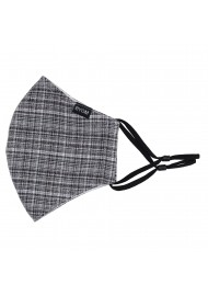 Vintage Tweed Check Mask in Grays Flat