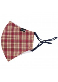 Red and Cream Plaid Mask Flat