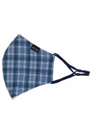 Indigo Autumn Check Mask Flat