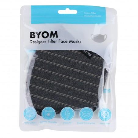 Smoke Gray Autumn Filter Mask in Mask Bag