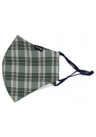 Green and Fall Beige Brown Plaid Mask Flat
