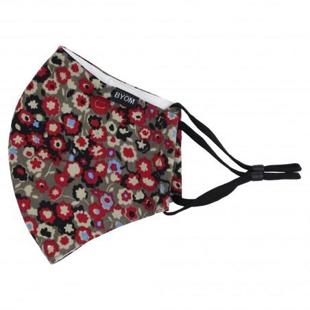 Fall Floral Print Mask Flat