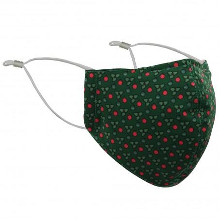 Green Holly Plant Christmas Mask
