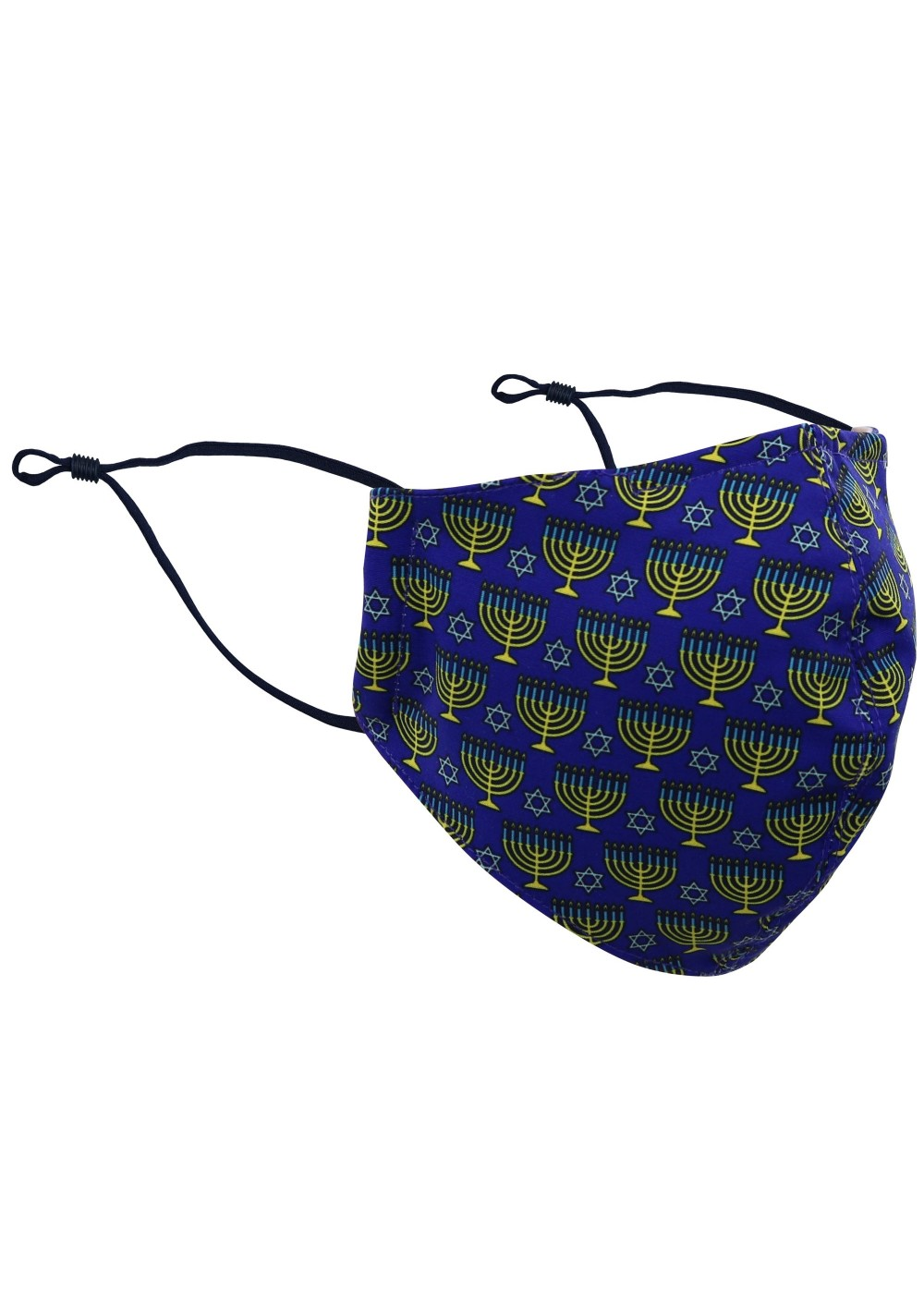 Hanukkah Print Face Mask in Blue and Gold