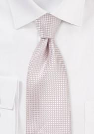 Textured Weave Boys Tie in Blush Pink