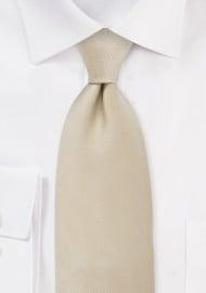 Single colored silk tie Champagne color