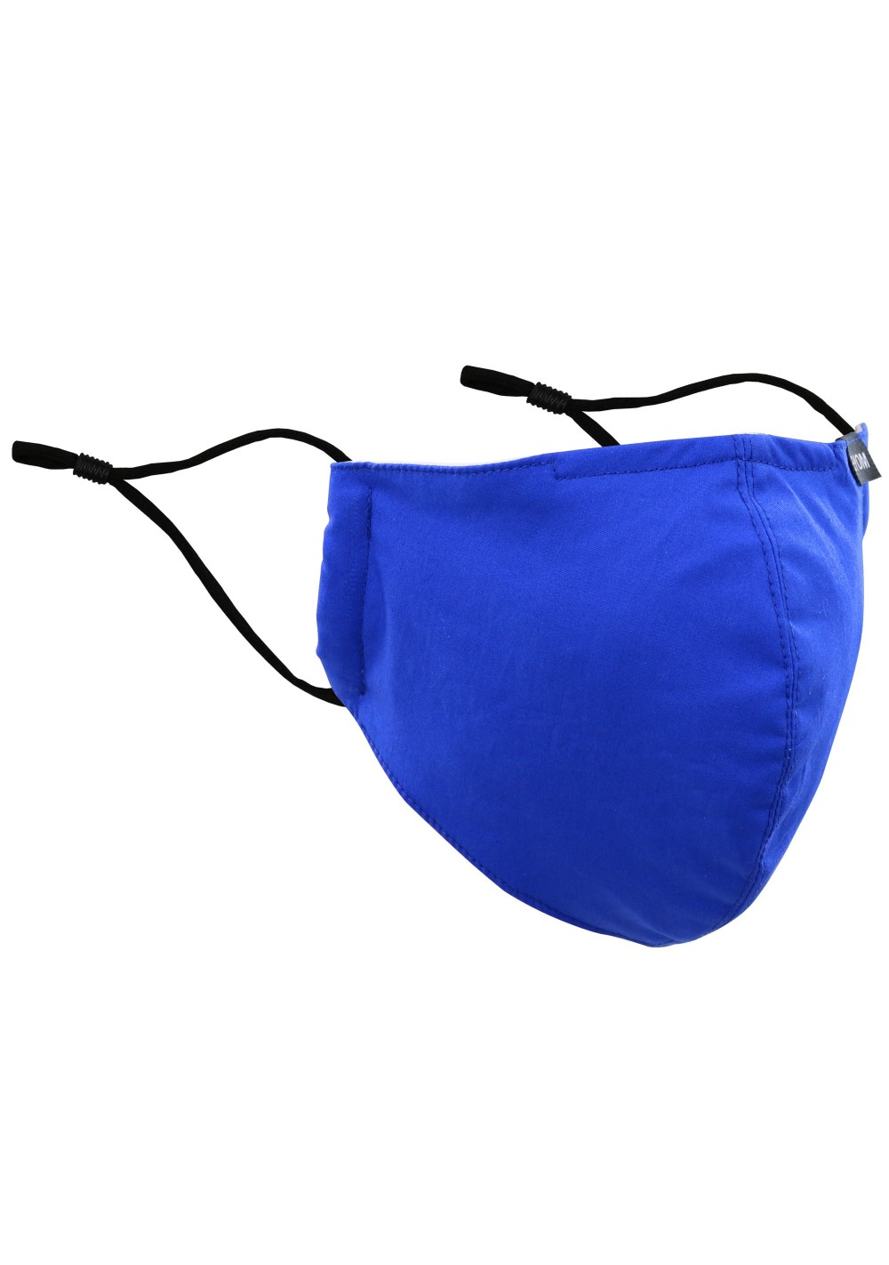 Solid Cotton Filter Mask in Royal Blue