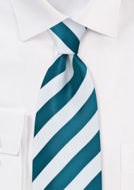 Horizon Blue Striped Tie in XL Length