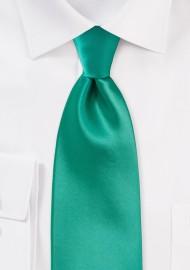 Bright Jade Color Tie in XL