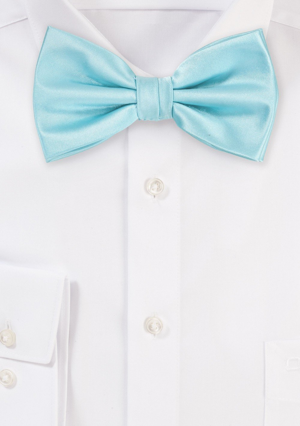 Light Turquoise Blue Bow Tie