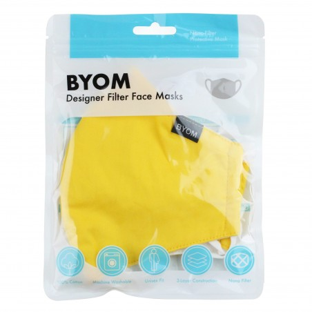 Canary Yellow Filter Mask in Bag