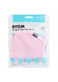 Blush Pink Cotton Filter Mask in Bag