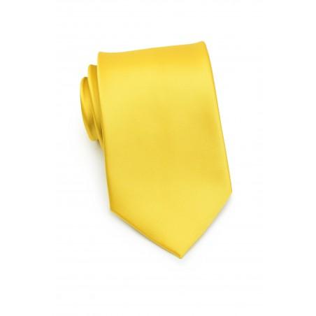 Bright Sun Yellow Necktie