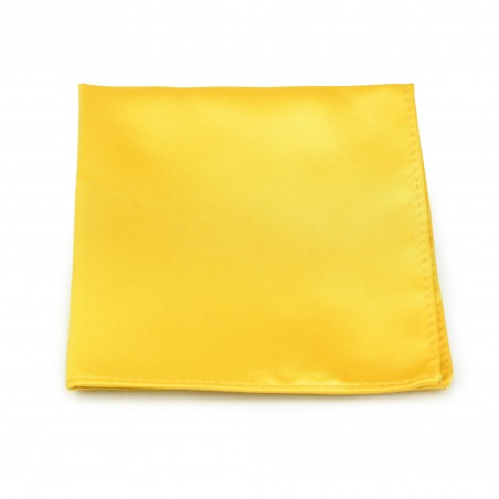 Bright Sun Yellow Pocket Square Hanky
