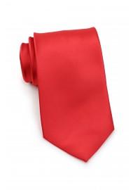 Bright Red Necktie