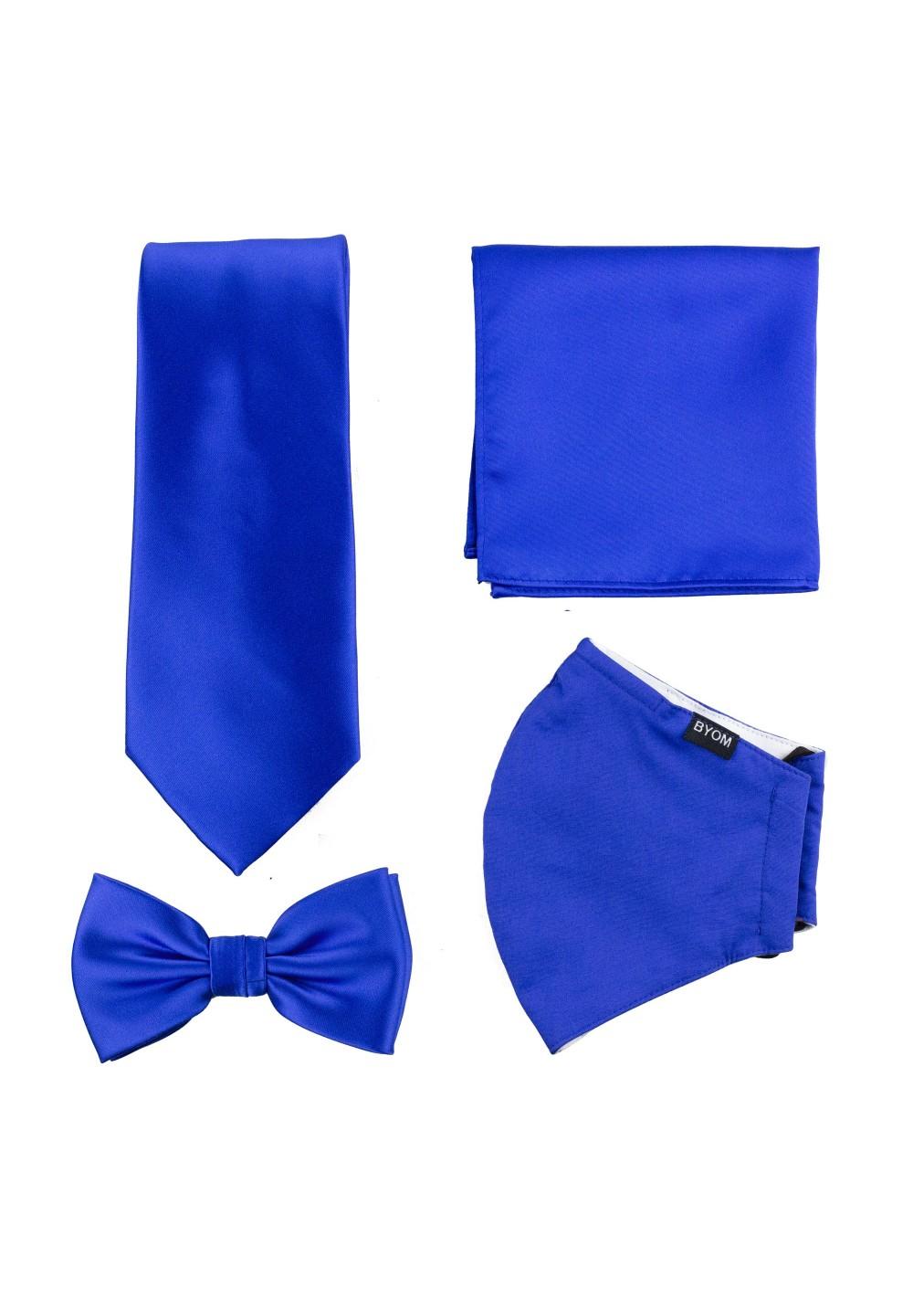 Marine Blue 4-piece Mask and Tie Set