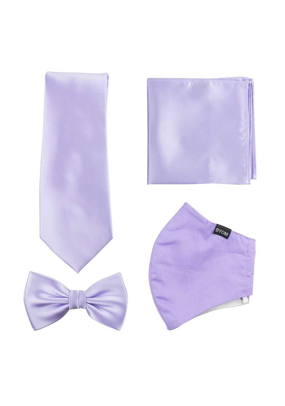 Lavender Tie and Mask Set
