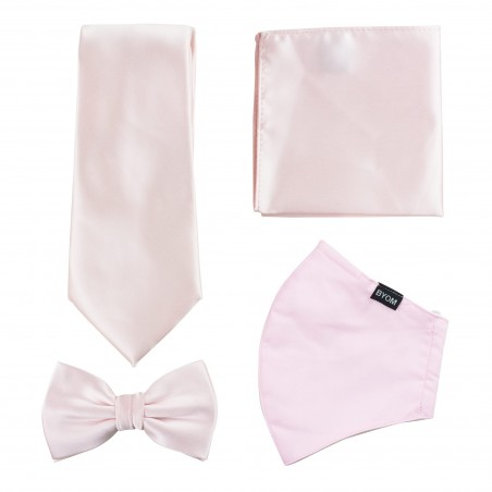 Blush Pink Mask and Tie Set