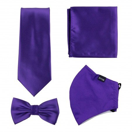 Regency Purple Mask and Tie Set