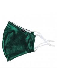 Metallic Green Filter Mask