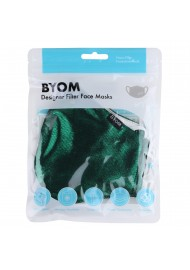 Metallic Green Filter Mask in Bag