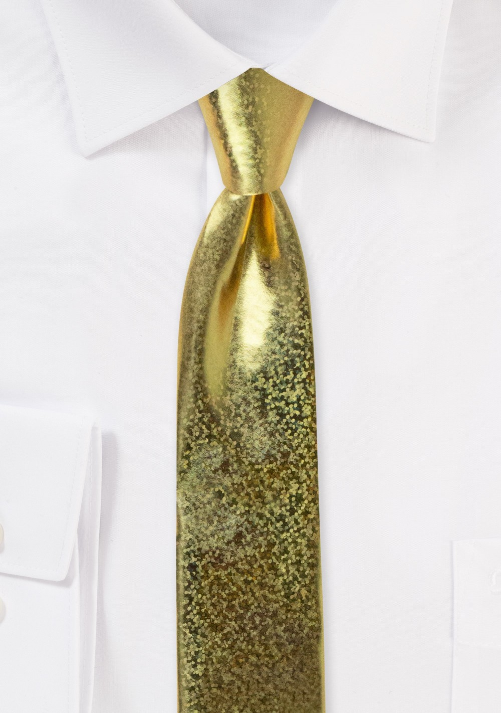 Gold Glitter Skinny Tie