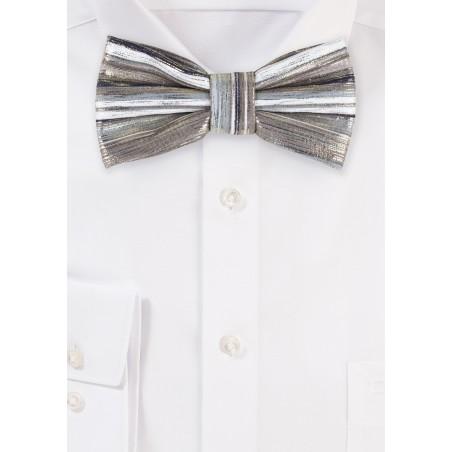 Rose Gold and Platinum Metallic Bow Tie