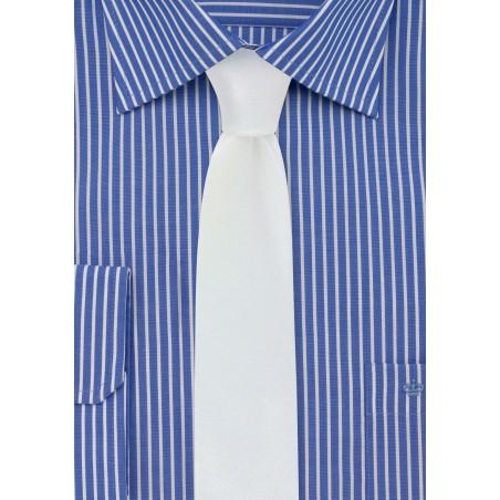 White Glitter Skinny Tie