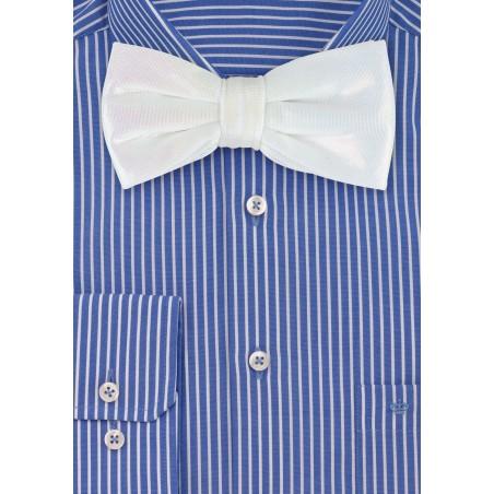 White Glitter Bow Tie