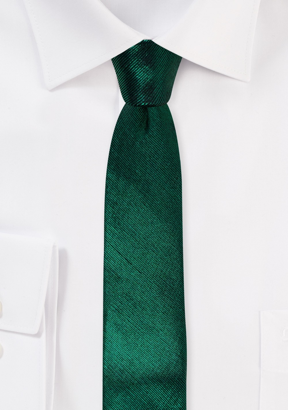 Metallic Green Skinny Tie