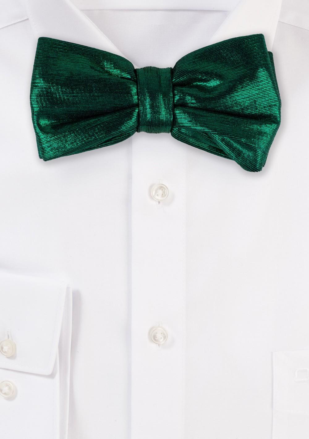 Pine Green Glitter Bow Tie