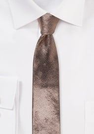 Rose Gold Metallic Skinny Tie