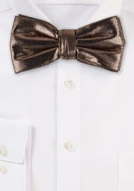 Rose Gold Glitter Bow Tie