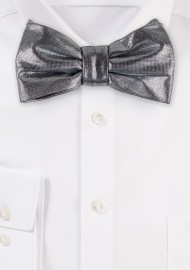 Silver Sparkle Bow TIe